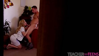 Killing hot mommy Brandi Love and her step daughter fuck one handsome guy
