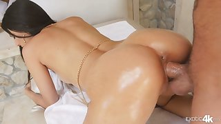 All about lubed super curvy babe Eliza Ibarra rides dick and gets poked doggy