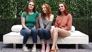 3 Redheads And One Lucky Ass Bloke