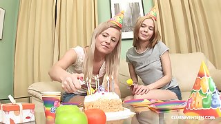 Elly B and possibility hottie close by turns to hand bringing off with a dick