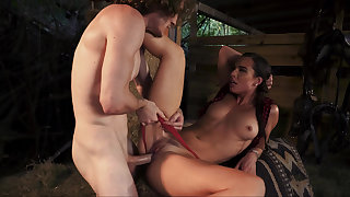 Simple farm girl fucked hard