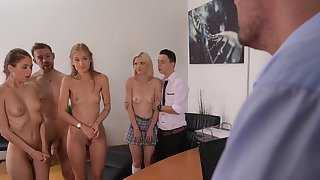 School porn in group for a bunch of anal teens