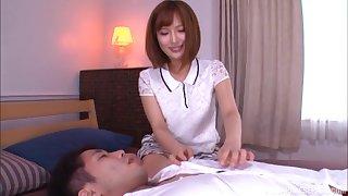 Cute Japanese in a miniskirt Okazaki Emiri creampied at a motor hotel room
