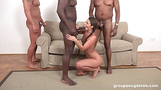 Strong hunks are ready to adapt Amirah Adara burnish apply desired anal