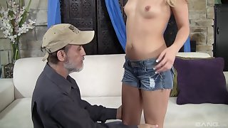 After immoral sex Megan Appealing is on say no to knees waiting be proper of a facial