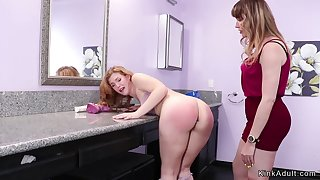 Step housewife spanks coed there bathroom