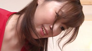 Matsunaga Sana gives a titjob before her friend fucks her in a doggy