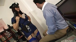Clothed sex is what horny Kristi Love loves with this dude