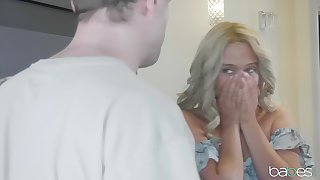 Blonde Athena Palomino enjoys sexual relations with say no to horny boyfriend after a long day