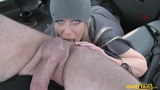 Before a gay blade destroys her proximate pussy Sasha Steele blows his cock