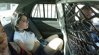 Arrested bitch Gina Valentina deserves some fully brutal frowardness fuck