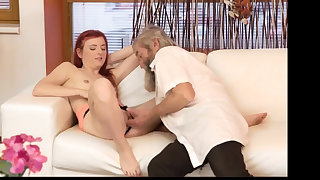 Teen ancient doctor Unexpected practice with an older