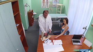 Cute girl with amazing nuisance loves to ride hard gumshoe of say no to doctor