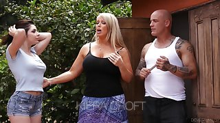 Keira Croft seduces bald headed phase of whorish mommy Alura Jenson