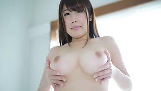 Japanese perfect breasts take-off Sakura Kirishima
