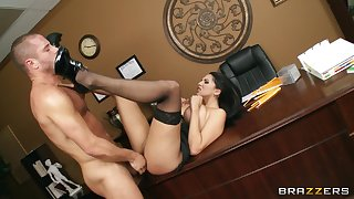 Sex on the date table and sofa with secretary Missy Martinez