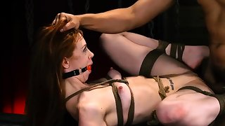 Rope bondage Down in the mouth young girls, Alexa Nova increased by Kendall