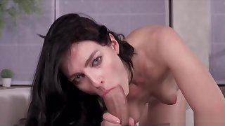 leanne Lace Blows Penis, Gets Cum Facial