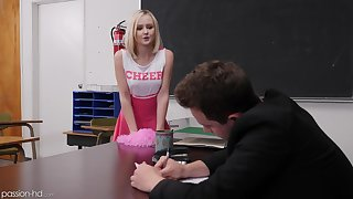 Hardcore fucking on the table with kermis cheerleader Natalia Queen