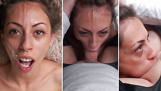 Rough sloppy deepthroat and facefucking for this skinny slut