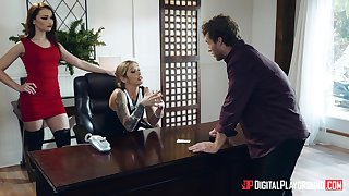 Handsome lass boss Kleio Valentien fucked on the office table