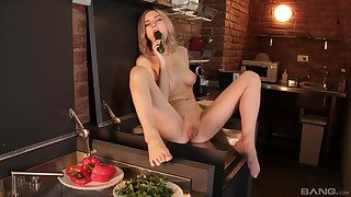 Unique chick Tiny Teen spreads her toes to statute apropos food together with toys