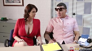 Fucking on a catch office table with Charlee Chase and Eva Karera