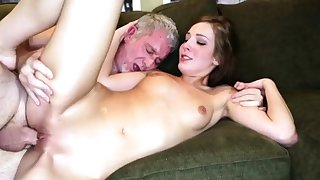 Braces facial daddy and old lady fucks guy in front of pal'